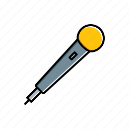 microphone, multimedia icon