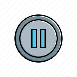 multimedia, pause icon