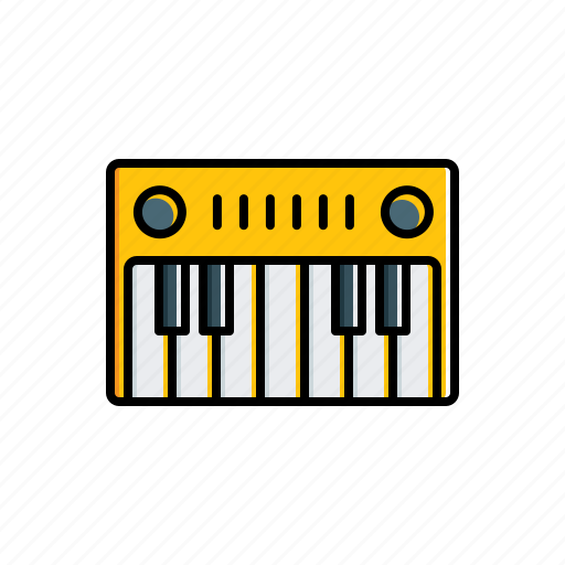 multimedia, piano icon