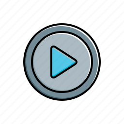 multimedia, play icon
