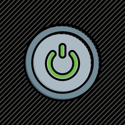 multimedia, power icon