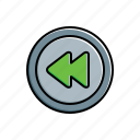 multimedia, rewind icon