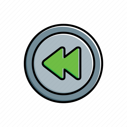 multimedia, rewind icon