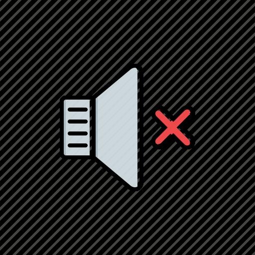 multimedia, mute, speaker icon