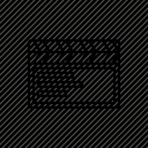 cinema, clapboard, multimedia icon