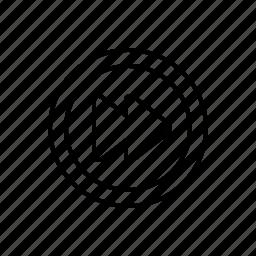 forward, multimedia icon