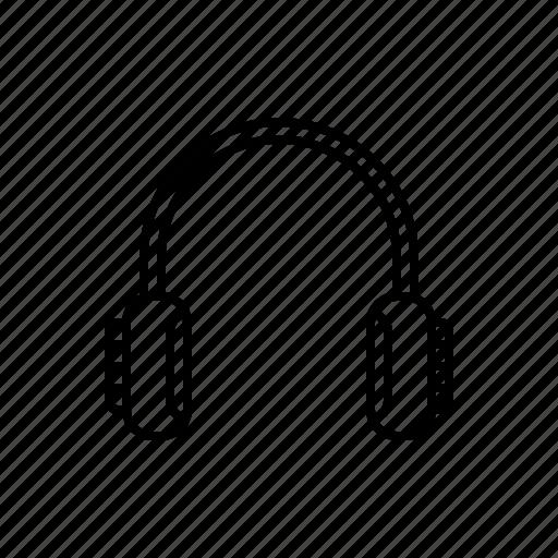 headset, multimedia icon