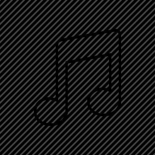 multimedia, note icon