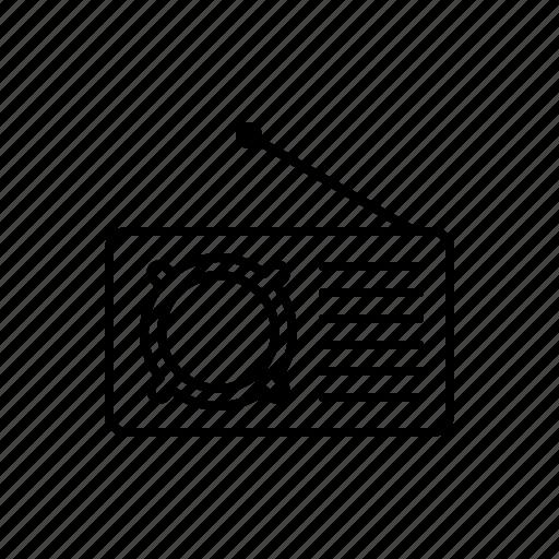 multimedia, radio icon