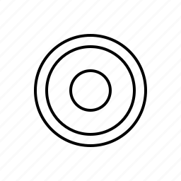 multimedia, rec icon