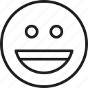 emoticon, face, grinning, smiley icon