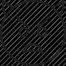 emoticon, imp, smiley icon