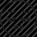 emoticon, face, pensive, smiley