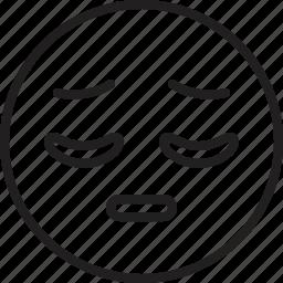 emoticon, face, pensive, smiley icon
