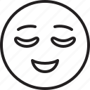 emoticon, face, relieved, smiley icon