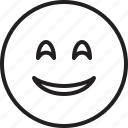 emoticon, eyes, face, smiley, smiling