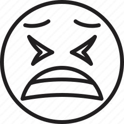 emoticon, face, smiley, tired icon