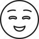 emoticon, face, smiley, smiling icon