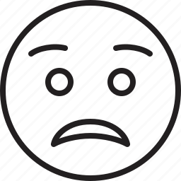 emoticon, face, smiley, worried icon