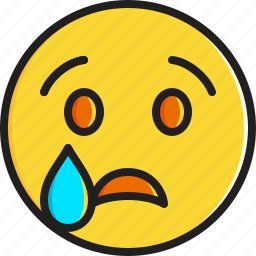 crying, emoticon, face, smiley icon