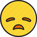 disappointed, emoticon, face, smiley