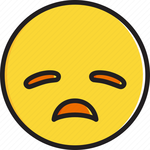 disappointed, emoticon, face, smiley icon