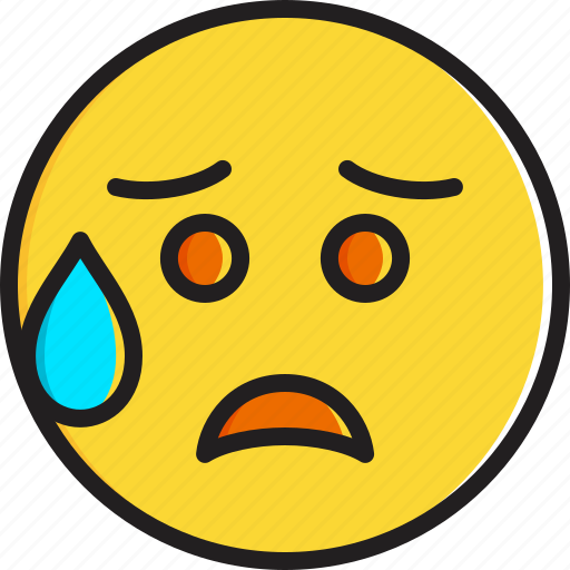 disappointed, emoticon, face, relieved, smiley icon