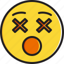 dizzy, emoticon, face, smiley icon