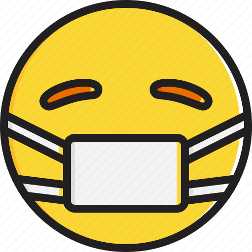 emoticon, face, mask, medical, smiley icon