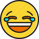 emoticon, face, joy, smiley, tears icon
