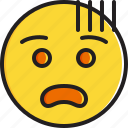 emoticon, face, fearful, smiley icon