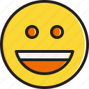 emoticon, face, grinning, smiley