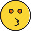 emoticon, face, kissing, smiley icon