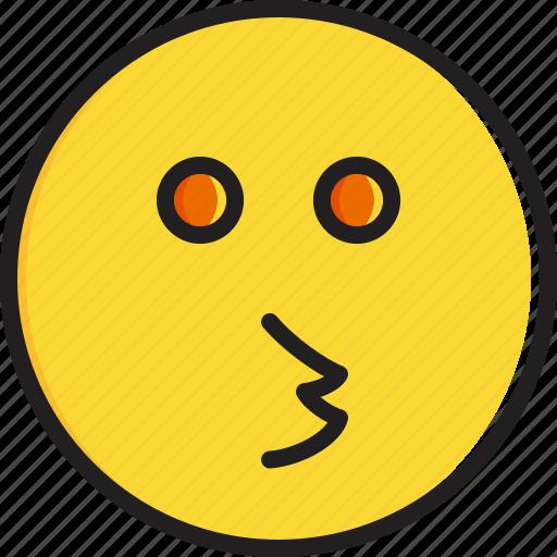 emoticon, face, kissing, smiley icon