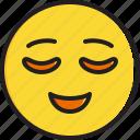 emoticon, face, relieved, smiley