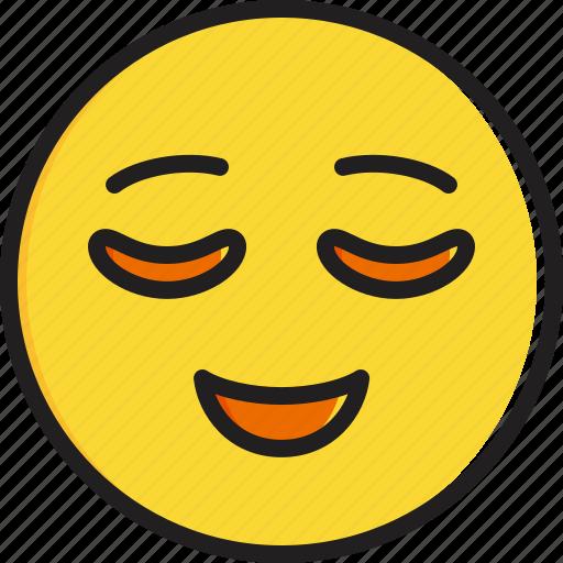 emoticon, face, relieved, smiley icon