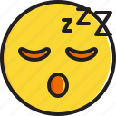emoticon, face, sleeping, smiley icon