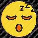 emoticon, face, sleeping, smiley