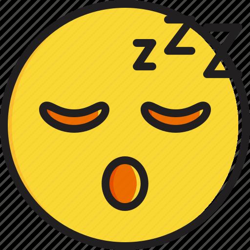 emoticon, face, sleeping, smiley icon