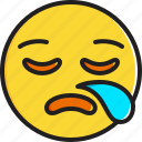 emoticon, face, sleepy, smiley icon