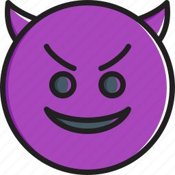 emoticon, face, horns, smiley, smiling icon