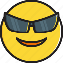 emoticon, face, smiley, smiling, sunglasses icon