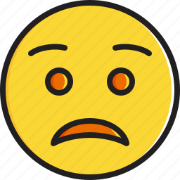 emoticon, face, smiley, worried icon