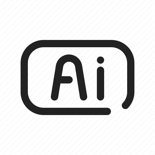 adobe, file, format, illustrator icon