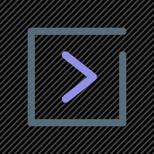 arrow, detail, more, show icon