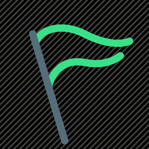 flag, marker, start icon