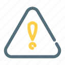 alert, caution, exclamation, warning icon