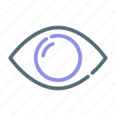 eye, monitoring, show, visible icon