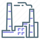 factory, industry, manufacturer icon