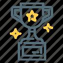 achievement, rewards, trophy, winner icon